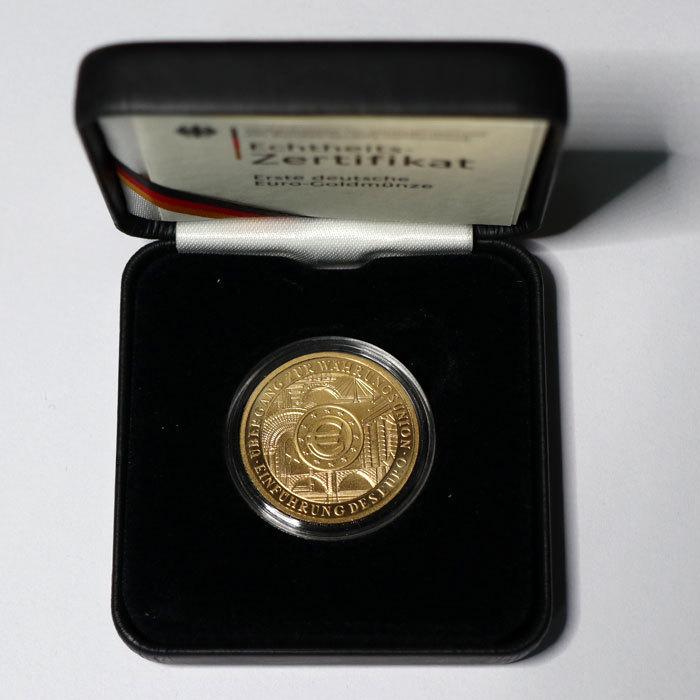 100 Euro Goldmünze 2002 Währungsunion Einführung Des Euro St