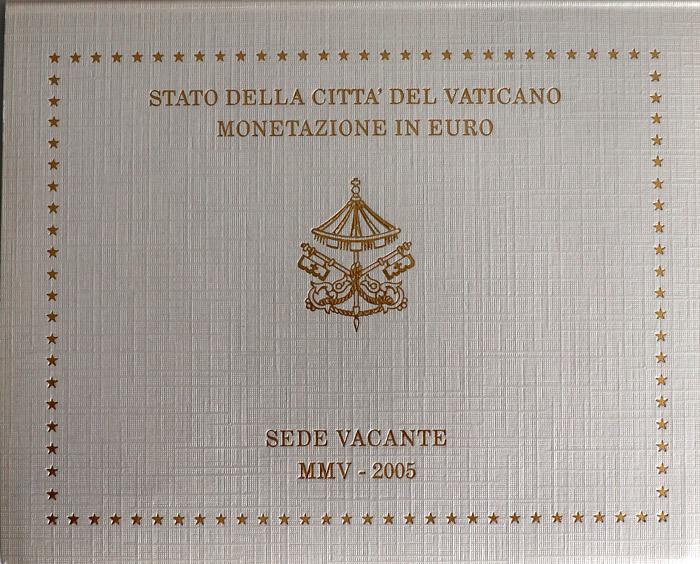 Vatikan Euro Münzen Set 2005 Sede Vacante St Kursmünzensatz