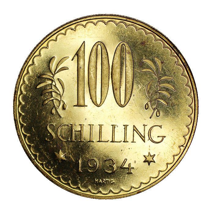 100 Schilling Gold Erste Republik 1934 Auch Alpendollar Genannt