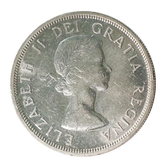 Kanada Dollar Voyageur Indianer Kanu Elisabeth Ii 1953 Vz