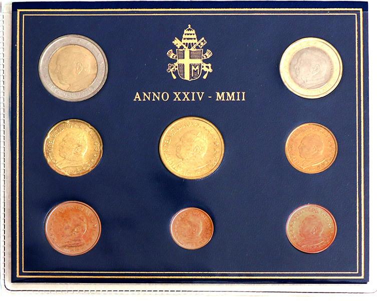 Vatikan Euro Münzen Set 2002 St Kursmünzensatz
