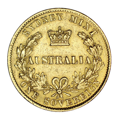 Australien 1 Sovereign Gold Victoria 1866 ss