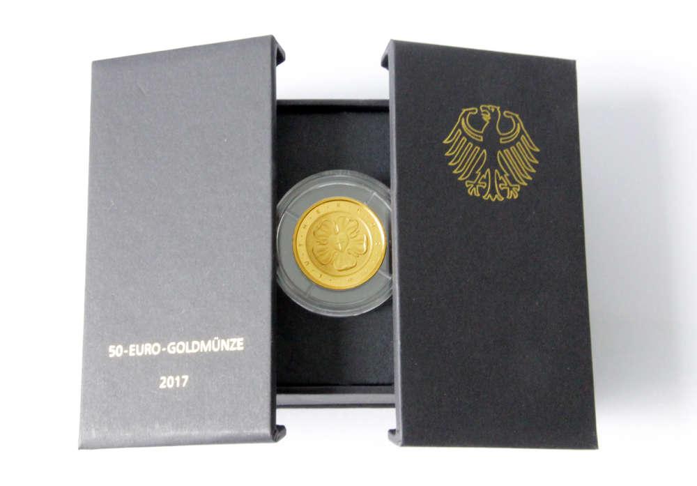 50 Euro Goldmünze Lutherrose 500 Jahre Reformation 2017 St