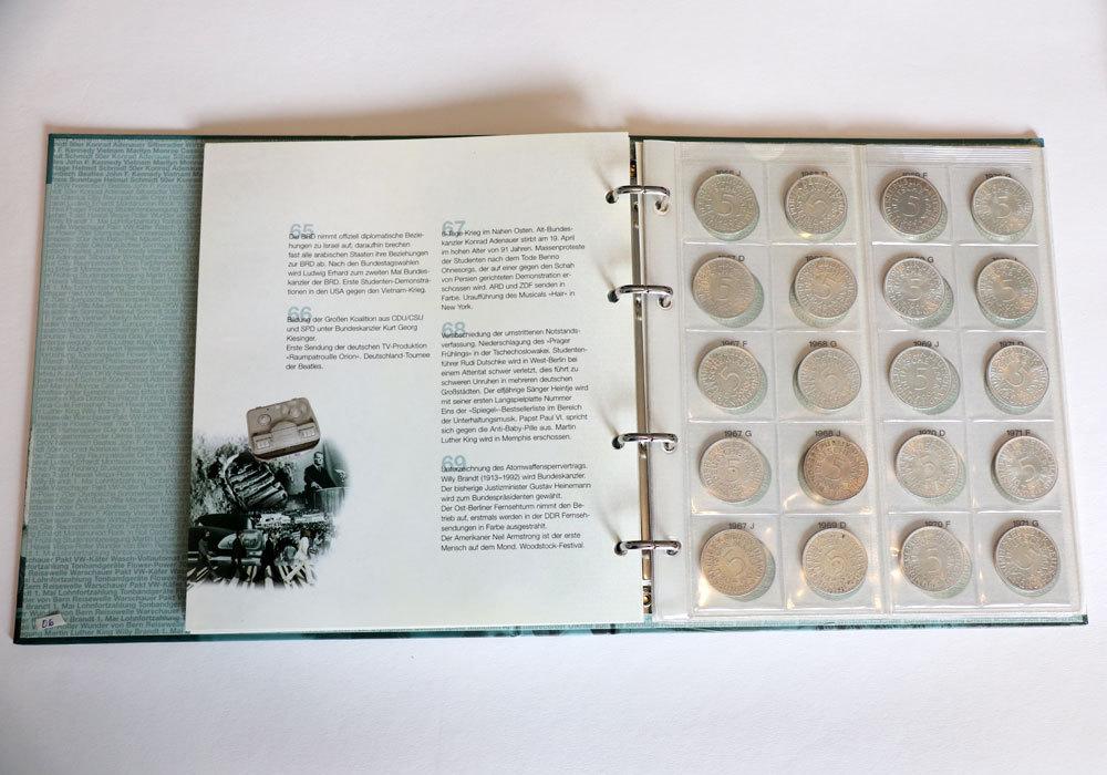 Brd 72 X 5 Dm Kursmünze Silberadler Serie 1951 1974 Ralf N