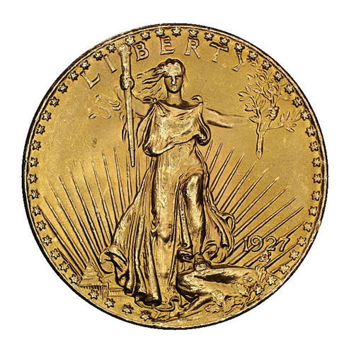 USA 20 Dollar Gold Saint Gaudens Double Eagle 1927 prfr