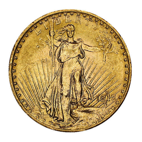 USA 20 Dollar Gold Saint Gaudens Double Eagle 1915 S vz