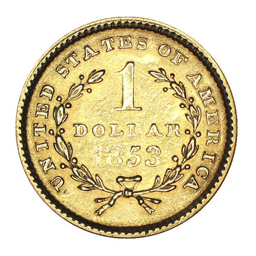 USA 1 Dollar Gold Liberty Head 1853 ss