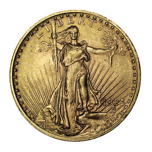 USA 20 Dollar Gold Saint Gaudens Double Eagle 1923 prfr