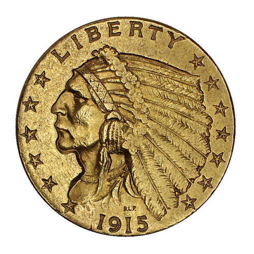 USA 2,5 Dollar Gold Indian Head 1915 ss-vz